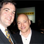 Will with Evan Handler, the featured speaker of the evening. His most recent role was that of the bald jewish lawyer in Sex in the City on HBO. He is also an AML Survivor (16 years, I believe), and author of 'Time on Fire, My Comedy of Terrors'