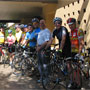 Gathering for the Friday ride from the Hyatt: From left - Dave Mitchell, Chris Hornbeek, Chip Hornbeek, Mike Terry, Jeff DalPoggetto, Bryan Head, Will Swetnam, Dave Panella, Steven Bourke, and Chris States
